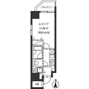 1K Mansion in Kandaogawamachi - Chiyoda-ku Floorplan