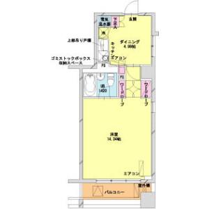 1DK Mansion in Shinkawa - Chuo-ku Floorplan
