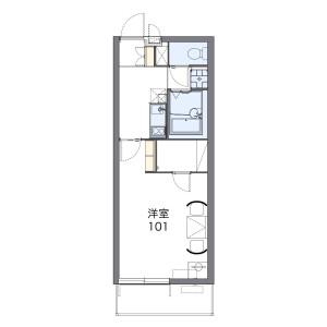 1K Mansion in Higashi - Okegawa-shi Floorplan