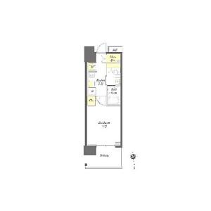 1K Mansion in Wasedamachi - Shinjuku-ku Floorplan