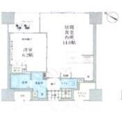 千代田區東神田-1LDK公寓大廈 房間格局