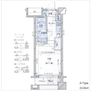 1K Mansion in Iwatocho - Shinjuku-ku Floorplan