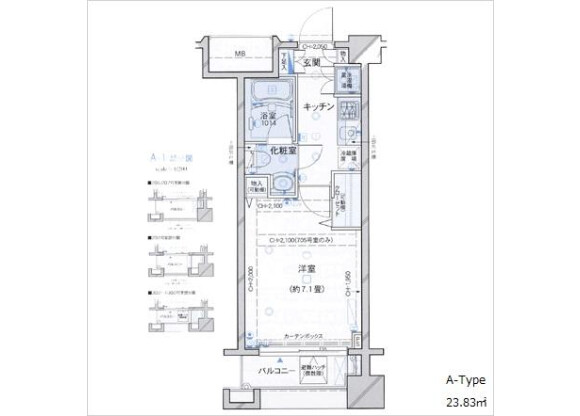 1K Apartment to Rent in Shinjuku-ku Floorplan