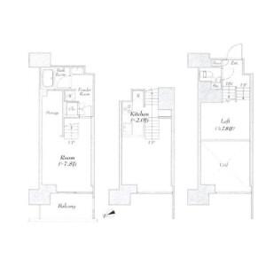 1K Mansion in Kaigan(1.2-chome) - Minato-ku Floorplan