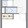 1K Apartment to Rent in Meguro-ku Floorplan