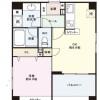 1DK Apartment to Rent in Shinjuku-ku Floorplan