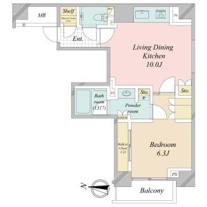 1LDK {building type} in Kandasakumacho - Chiyoda-ku Floorplan