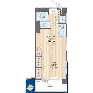 1DK {building type} in Mejirodai - Bunkyo-ku Floorplan