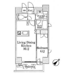 1LDK Mansion in Ueno - Taito-ku Floorplan