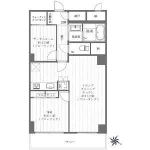 1SLDK {building type} in Minamiazabu - Minato-ku Floorplan
