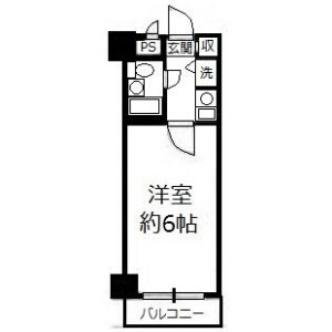 1R Mansion in Minowa - Taito-ku Floorplan