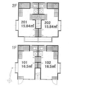 Whole Building {building type} in Eharacho - Nakano-ku Floorplan