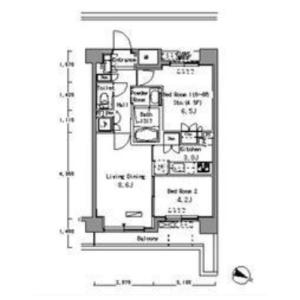 1SLDK Mansion in Higashijujo - Kita-ku Floorplan