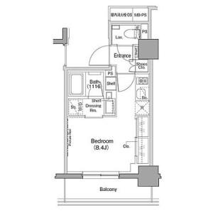1R Mansion in Chuo - Yokohama-shi Nishi-ku Floorplan