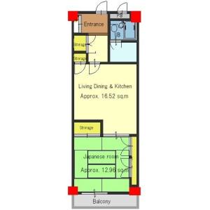 1LDK Apartment in Minamimachi - Kyoto-shi Higashiyama-ku Floorplan