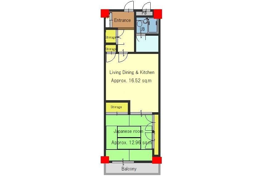 1LDK Apartment to Buy in Kyoto-shi Higashiyama-ku Floorplan