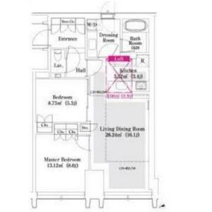 新宿區西新宿-2LDK公寓大廈 房間格局