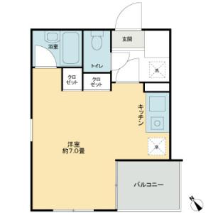 1R Mansion in Minamikarasuyama - Setagaya-ku Floorplan