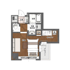 1K Mansion in Yoshihamacho - Yokohama-shi Naka-ku Floorplan