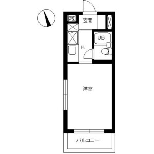 1R Mansion in Seishin - Sagamihara-shi Chuo-ku Floorplan