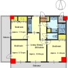 3LDK Apartment to Buy in Kyoto-shi Kamigyo-ku Floorplan
