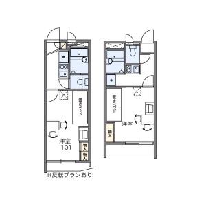 1K Apartment in Kamiuma - Setagaya-ku Floorplan
