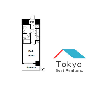1K Mansion in Himonya - Meguro-ku Floorplan