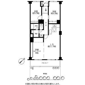 3LDK Apartment in Kaminoge - Setagaya-ku Floorplan