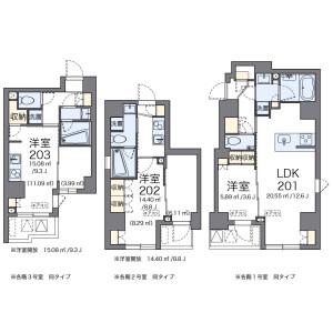 1LDK Mansion in Shintomi - Chuo-ku Floorplan
