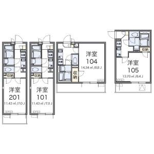 1K Mansion in Yagicho - Hachioji-shi Floorplan
