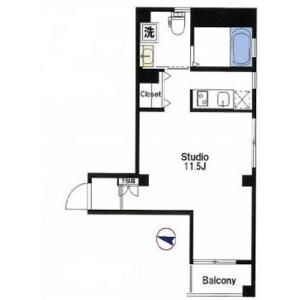 1K Mansion in Monzennakacho - Koto-ku Floorplan