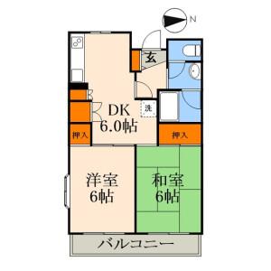 江戶川區東葛西-2DK公寓大廈 房間格局