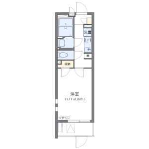 1K Mansion in Karita - Osaka-shi Sumiyoshi-ku Floorplan