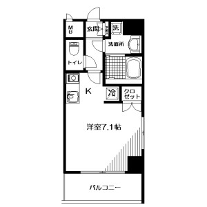 1R Mansion in Shinsencho - Shibuya-ku Floorplan