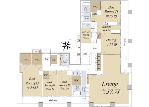 4SLDK Apartment to Buy in Koto-ku Floorplan