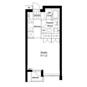 1R Mansion in Jingumae - Shibuya-ku Floorplan