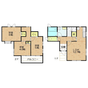 3LDK House in Hanakagecho - Sakado-shi Floorplan