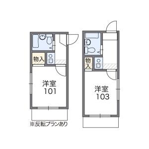 1K Apartment in Eharacho - Nakano-ku Floorplan