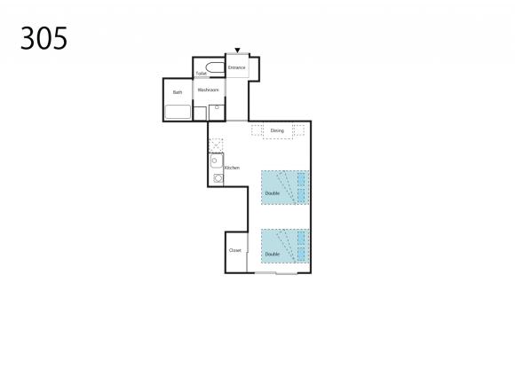 1R Apartment to Rent in Osaka-shi Naniwa-ku Floorplan