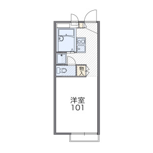 1K Apartment in Nogamicho - Ome-shi Floorplan