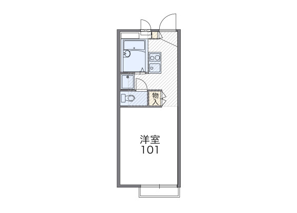 1K Apartment to Rent in Ome-shi Floorplan