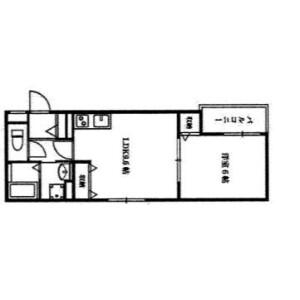 1LDK Mansion in Tagawakita - Osaka-shi Yodogawa-ku Floorplan
