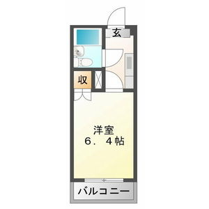 1K Mansion in Naka toacho - Kakamigahara-shi Floorplan