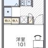 在豊岛区内租赁1K 公寓 的 楼层布局