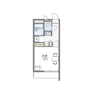 豊岛区東池袋-1K公寓 楼层布局