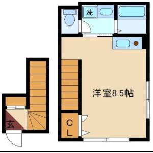 1R Mansion in Osaki - Shinagawa-ku Floorplan