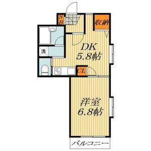 1DK Mansion in Toshima - Kita-ku Floorplan