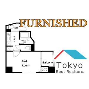 新宿区東榎町-1K公寓大厦 楼层布局