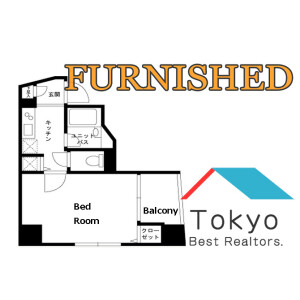 1K Mansion in Higashienokicho - Shinjuku-ku Floorplan
