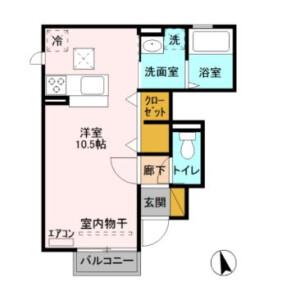 1R Apartment in Arajukumachi - Kawagoe-shi Floorplan
